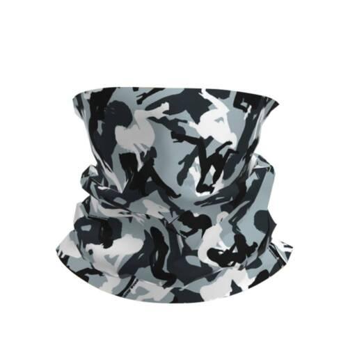Women Men Face Cover Neck Warmer Mask Seamless Bandana Biker Tube Snood Scarf SC