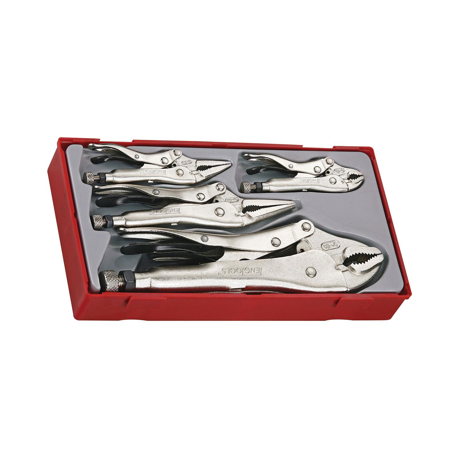 Teng Tools TTVG05 - 5 Piece Power Grip (Vise) Plier Set
