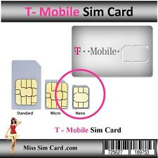 T-MOBILE PRE-ACTIVATED on AREA CODE (646) PREPAID NANO SIM CARD $3/month Plan
