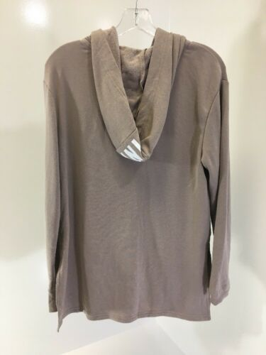 Slit Up Women's Xs Victoria's Zip Pink Secret Hoodie New Side Taupe YgFqwI1F