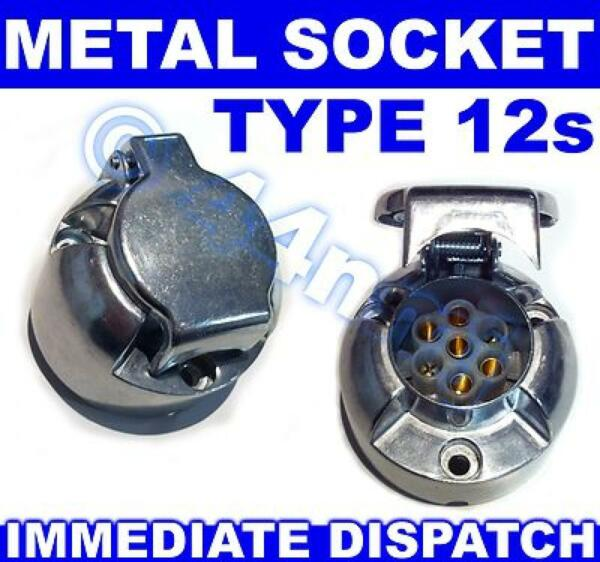 Discreet 12s Type 7 Pin Metal Alloy Socket Supplement Caravan Power Supply New