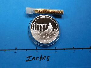 COCOPAH TRIBE NATIVE AMERICAN INDIAN TRIBAL NATIONS 999 SILVER COIN + GOLD #4