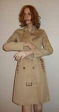 MICHAEL KORS DOUBLE-BREASTED TRENCH COAT IN KHAKI COLOR XS
