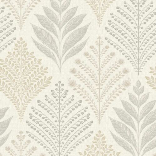 Grandeco Rowan Floral Leaf Pattern Wallpaper Glitter Motif Embossed Textured