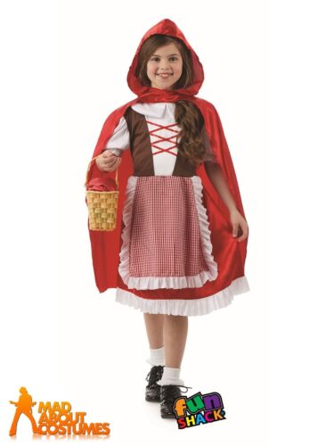 Child Red Riding Hood Costume Book Day Week Girls Fancy Dress Outfit Kids Girls