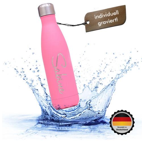 0,5 l Thermosflasche persönliche Gravur Kohlensäure geeignet 0,75 l 1,0 l