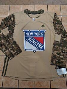 watch 7649f 2ac61 Details about New York Rangers adidas Veterans Day Practice Jersey - Camo  Men's Blank sz 52