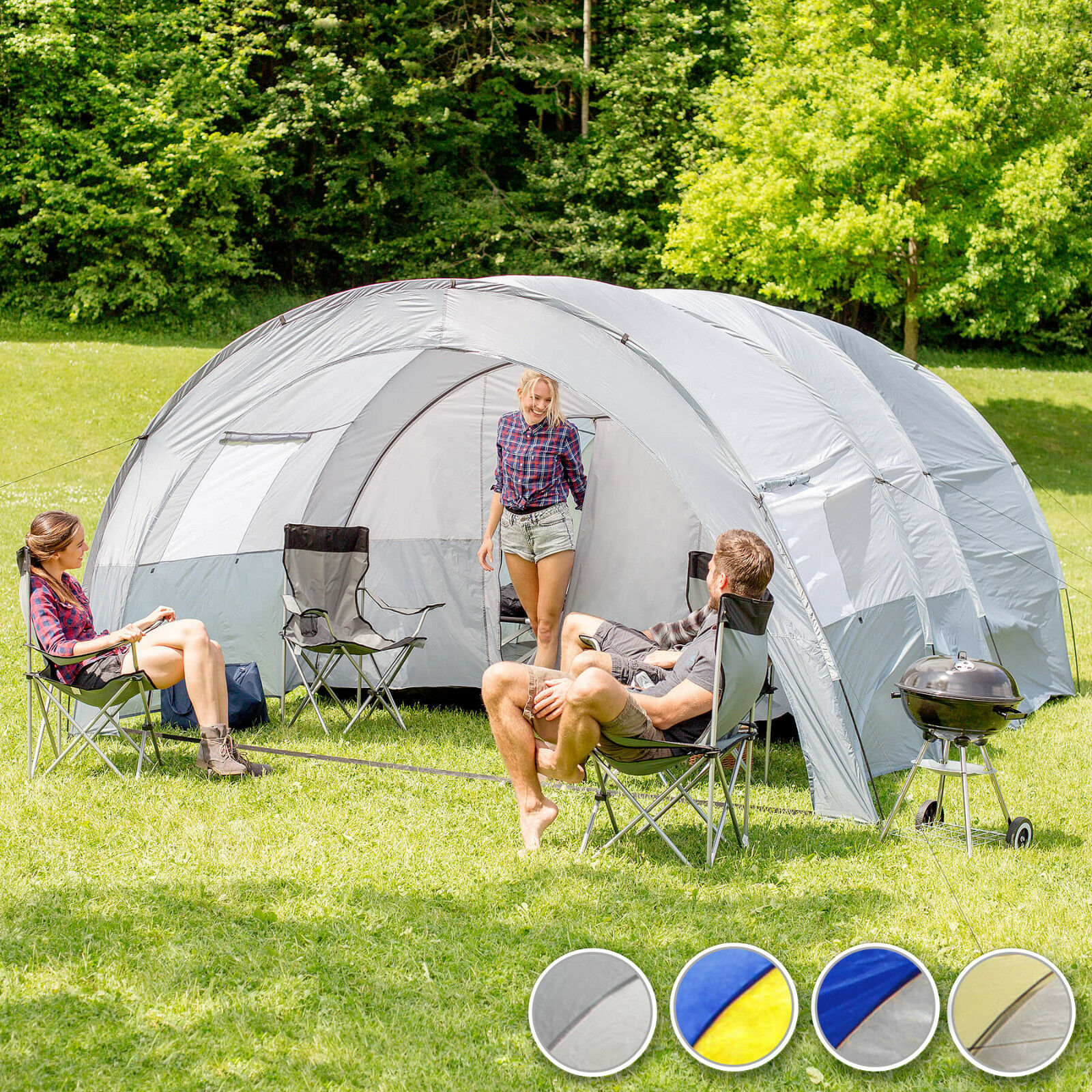 Tunnel Tent 6 Person Waterproof Large Family Group Water Water Water Column Camping 64dd32