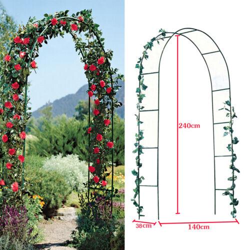 DIY Wedding Arch Climbing Plant Flower Garden Arch Metal Pergola Decor Gate