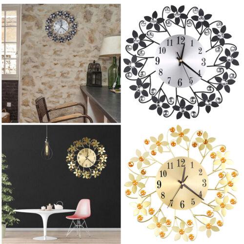 Unique Wall Clock Large Decorative Quiet Clocks Flower Design Wall Clocks
