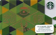 Starbucks 2015 Graduate Gift Card Collectible New NV - Pin Covered
