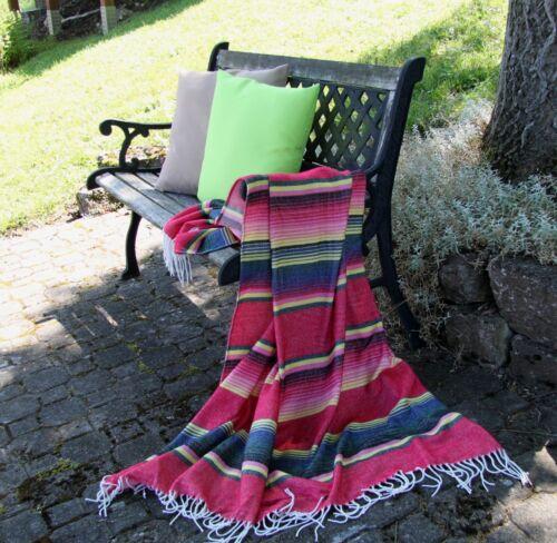 130x170 cm mit Fransen Mexico Streifen Sommerdecke ca