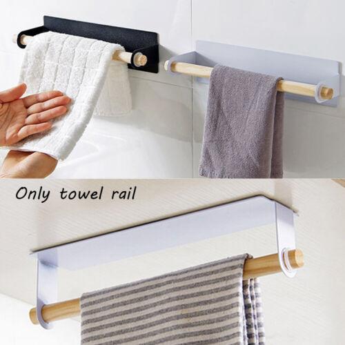 Bathroom Self-adhesive Toilet Paper Shelf Wall Hanging Towel Holder Metal