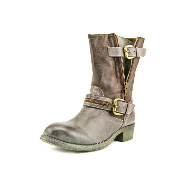 r.b.l.s. Siam Women Brown Casual Mid Calf Boot