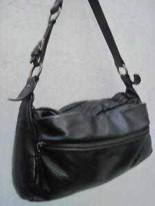 Détails sur AUTHENTIQUE sac à main XL type besace NICOLI cuir TBEG vintage bag A4