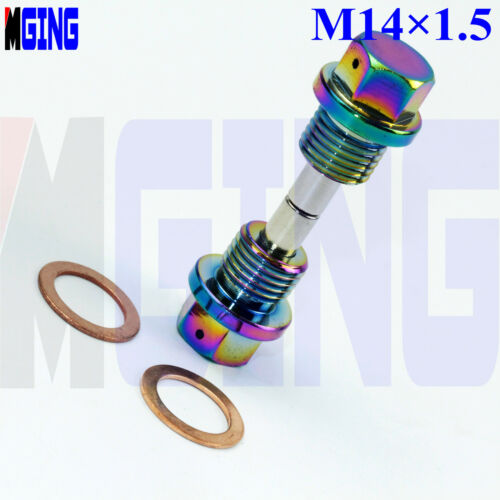 NEO M14X1.5 Engine Cover Magnetic Oil Pan Drain Plug BUNG Bolt Nut Crush Washer