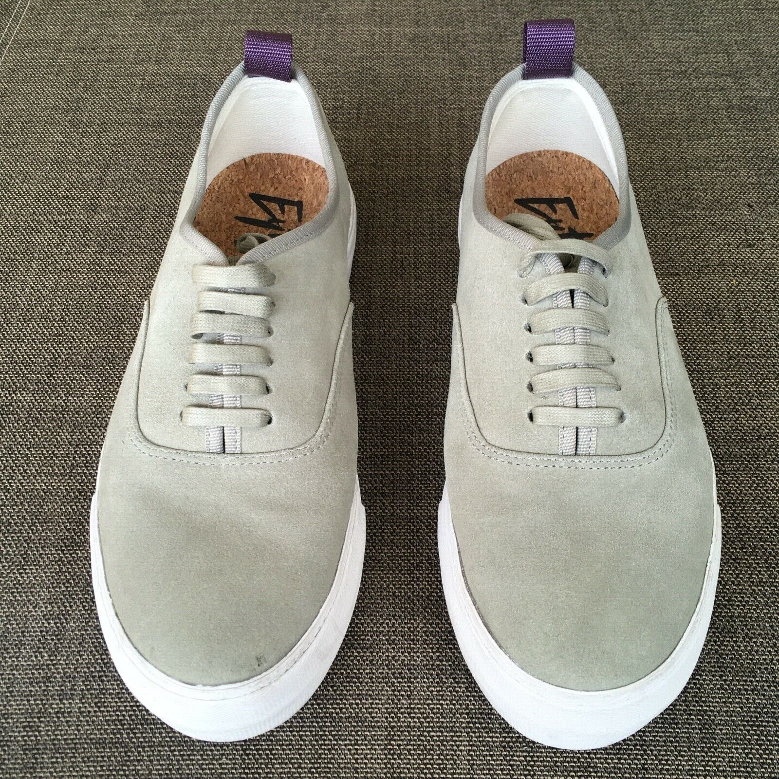 EYtys Mens Suede Skateboard Style Sneakers Gray S… - image 1