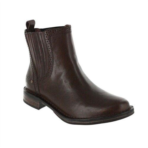 Caraby Nuovo Pelle 1003671 Marrone Caviglia Ugg Montone Stivali Donna Australia SHx1Hqf