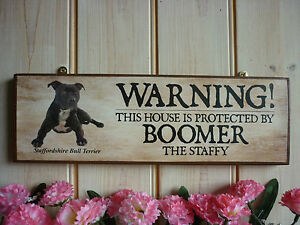 PERSONALISED-STAFFORDSHIRE-BULL-TERRIER-SIGN-OWN-NAME-SIGN-GATE-SIGN-HOUSE-SIGN