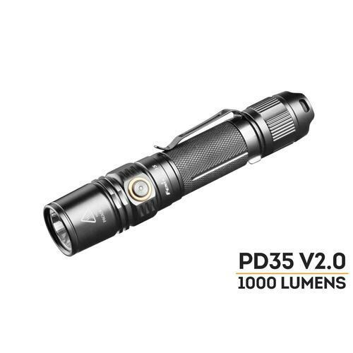 Fenix PD35-V2.0 1000 Lumen Flashlight - Cree XP-L-HI-V3/Uses 186501/CR123a2