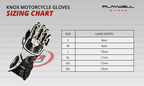 Knox Handroid Pod MK4 Motorcycle Gloves Black Hand Armour Summer Race Sports