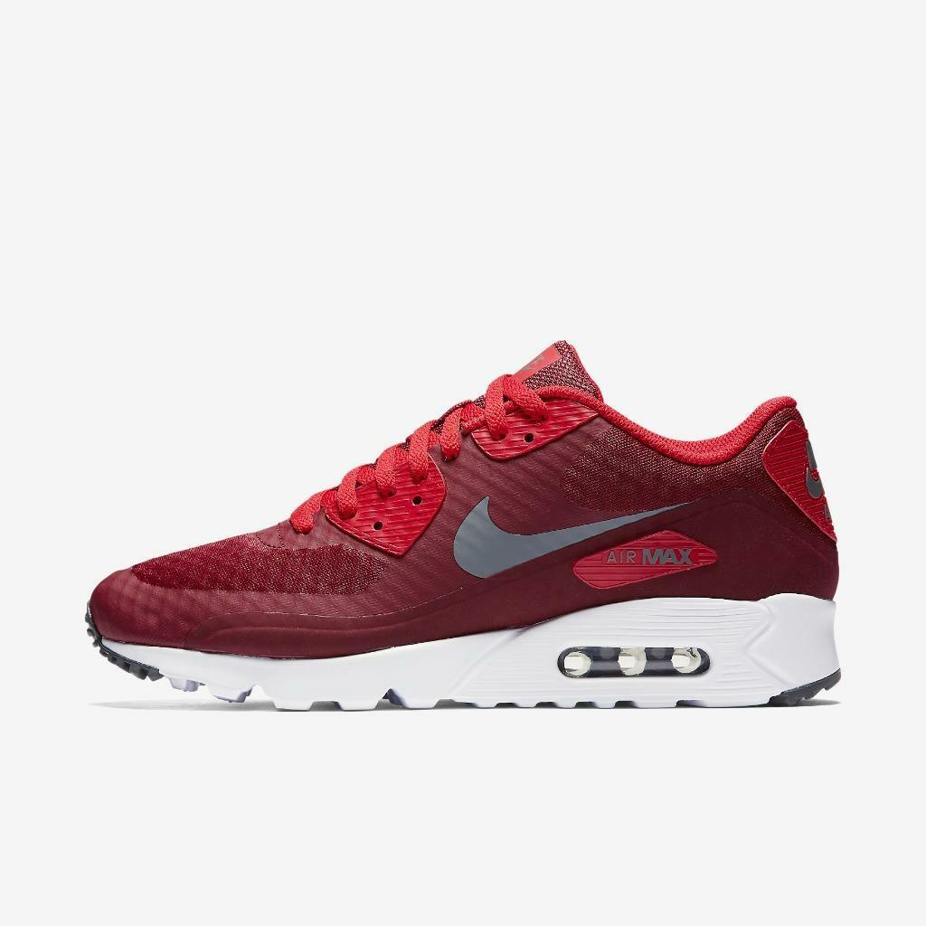 NIKE AIR MAX 90 ULTRA ESSENTIAL 819474 602 TEAM RED/DARK GREY-WHITE-UNIVERSITY R