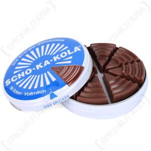 Ravissement Scho-ka-kola Allemand High Caffeine Chocolat Au Lait-tin Cadeau Ww2 Bonbons Energy-afficher Le Titre D'origine Une Performance SupéRieure
