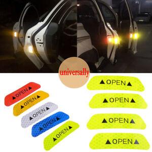 Etiqueta-engomada-de-cinta-reflectante-4x-coche-de-seguridad-puerta-abierta-advertencia-Pegatina