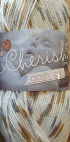 KING COLE NEW CHERISH DASH /& CHERISHED DK KNITTING YARN SELF PATTERN NON PILLING