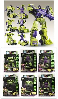 WJ Transformers Hercules DEVASTATOR 6 In 1 Engineering Car Action Figure KO