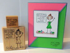 2 Stampin Up Humorous belated birthday stamps~use with copic markers