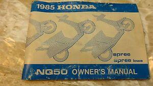 1986 honda spree nq50 moped h1190 owners manual oem iowa rare ebay rh ebay com 1985 Honda Spree Repair Manual 1986 Honda Spree Diagram