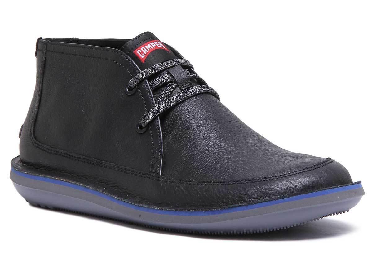 Camper Beetle Boots Mens Leather Black Matt Ankle Boots UK Size 6 - 12