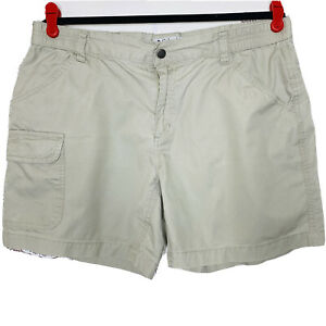 Columbia-Womens-Medium-Shorts-Beige-Elastic-Waist-Pockets-Fishing-Hiking-Outdoor