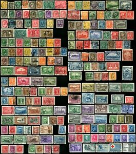 200-Early-CANADA-Stamps-Postage-Collection-1870-1955-Used-Mint-LH