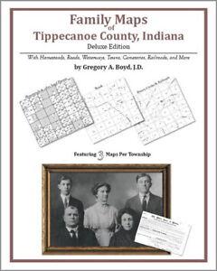 Family-Maps-Tippecanoe-County-Indiana-Genealogy-IN-Plat