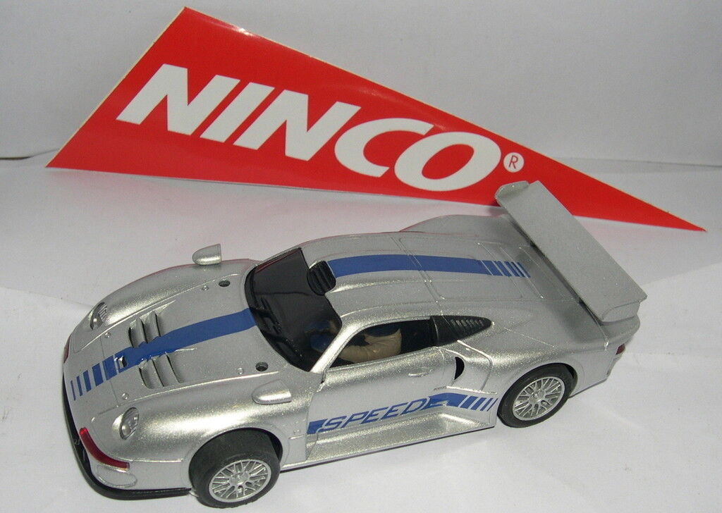 NINCO PORSCHE 911 GT1 ARGENT ARGENT ARGENT UNIQUEMENT DANS LOTS COMME NEUF BOITE OUVERTE f2d195