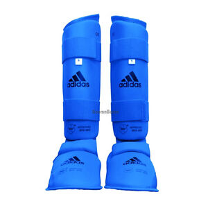 Details about adidas Karate Shin Instep Protector Leg Foot Sparring Gear  Guard WKF Approved