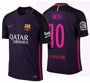 huge selection of bd30a d0eb2 Details about NIKE LIONEL MESSI FC BARCELONA AUTHENTIC VAPOR MATCH AWAY  JERSEY 2016/17 QATAR.