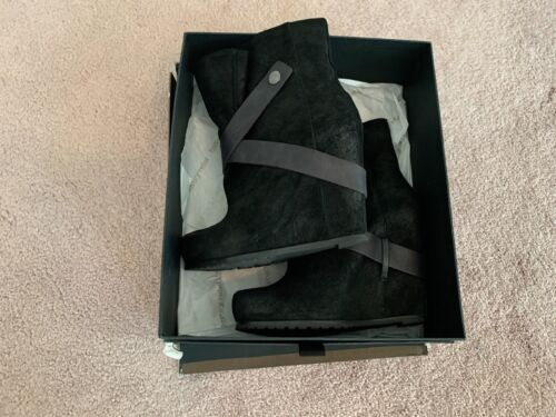 Women's Luxury Rebel Black Boots Size 8 38.5 Nords