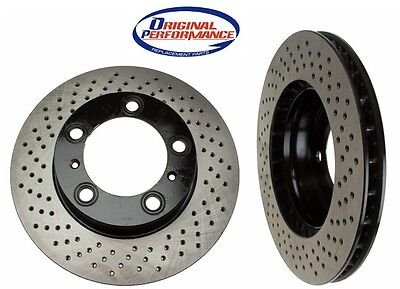 Porsche 911 Boxster Cayman 1999-2012 Front Disc Brake Rotors OPparts NEW