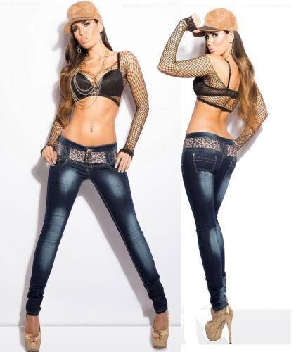 Clubbing Taglia Blu Leo Pantaloni 14 Jeans Skinny Donna Grigio denim scuro Donna Belt Pantaloni 6 10 8 12 qRIgzZw