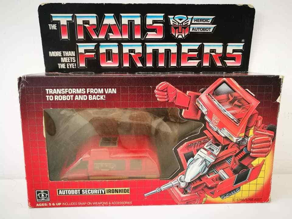 Transformers G1 Autobot Security Ironhide 1984 Hasbro Made in Japan Vintage Toy