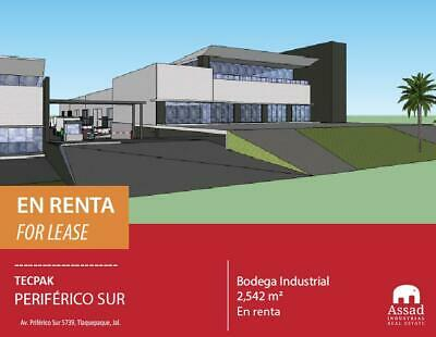 BODEGA EN RENTA PERIFERICO SUR / INDUSTRIAL WAREHOUSE FOR LEASE SOUTH PERIFERICO 2,542 M2 EN  TEC...