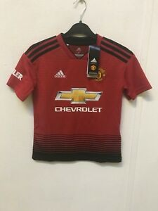 Adidas-Manchester-United-Garcons-18-19-Home-Chemise-9-10-ans-Matthews-10-NEUF