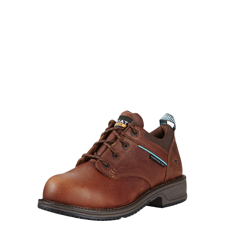 Ariat Wouomo Composite Toe Slip Resistant Leather Oxford Work scarpe 10020099