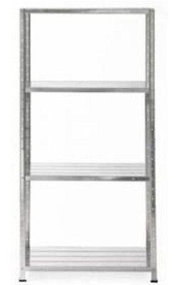 4 Shelf Metal Storage Unit Galvanised Steel Shelving Shelves 200Kgs Total Load