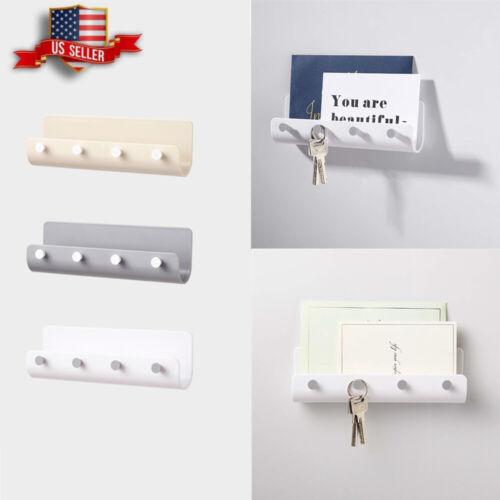 Home Dcor Key Rack Holder Wall Mount Letter Organizer 4 Hooks ...
