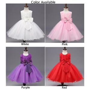 Fete Bebe Bebe Fille Robe Sans Manches Princesse Concours Robes Enfants Vetement Ebay
