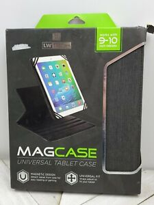 NEW-Black-Universal-Tablet-Case-by-LW-Tech-Slimcase-9-10-034-Tablets-iPad-kindle